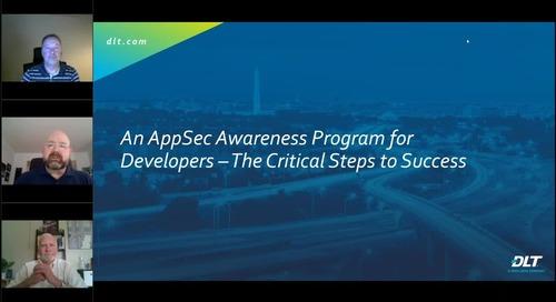 Webinar: An AppSec Awareness Program for Developers – The Critical Steps to Success