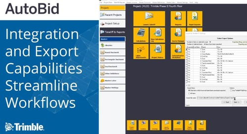 Trimble AutoBid Integration and Export Capabilities Streamline Workflows