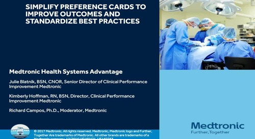 Simplify Preference Cards to Improve Outcomes and Standardize Best Practices