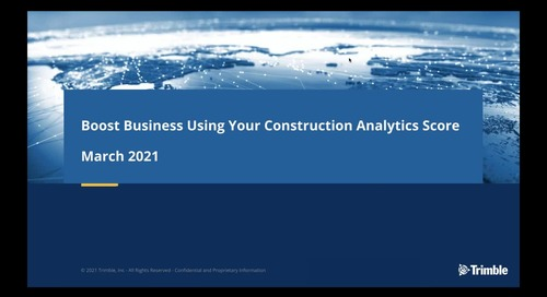 [On-Demand] Boost Business Using Your Construction Analytics Score