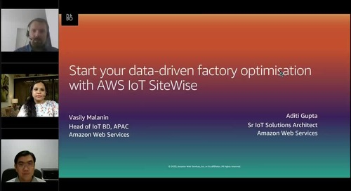 Start Your Data-driven Factory Optimization with AWS IoT SiteWise