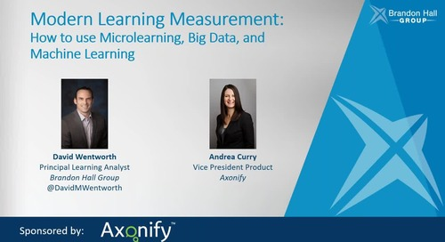 Modern Learning Measurement: How to use Microlearning, Big Data, and Machine Learning