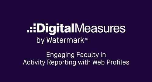 Engaging Faculty in Activity Reporting with Web Profiles