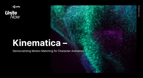 Kinematica: democratizing Motion Matching for character animation - Unite Now