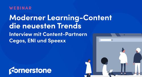 WEBINAR Moderner Learning-Content - die neuesten Trends