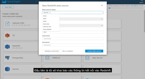 Xây dựng báo cáo thông minh với Amazon QuickSight
