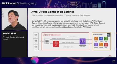 Sponsored by Equinix : AWS and Equinix – Bring you the hybrid cloud advantage