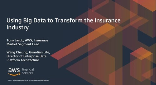 2019-05-16 08.00 Using Big Data to Transform the Insurance Industry