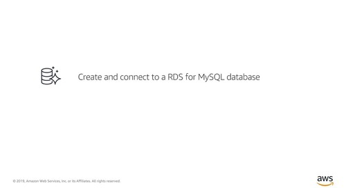 Create and connect to Amazon RDS for MySQL database