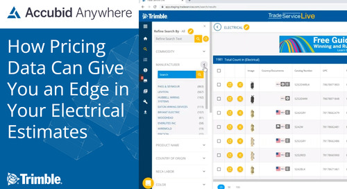 [Webinar Recording] How Pricing Data Can Give You an Edge in Your Electrical Estimates