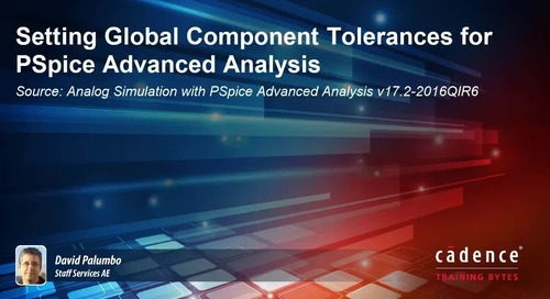 Setting Global Component Tolerances for PSpice Advanced Analysis