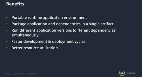 Las migraciones de máquinas virtuales a contenedores explicadas (AWS Virtual Days mayo)