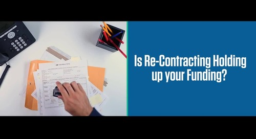 Are re-contracting errors delaying your funding?