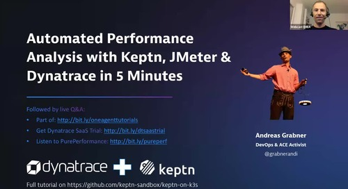Performance Analysis Automation with JMeter, Keptn & Dynatrace in 5 Minutes