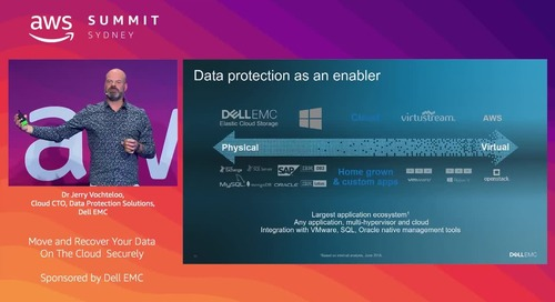 Simplified and Efficient Cloud Disaster Recovery and Cloud Data Protection (Sponsored by Dell EMC)