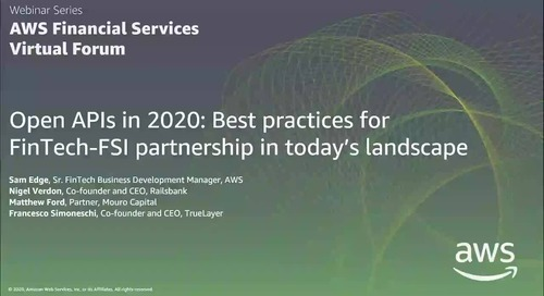 Open APIs in 2020 Best practices for FinTech-FSI partnership in today's landscape