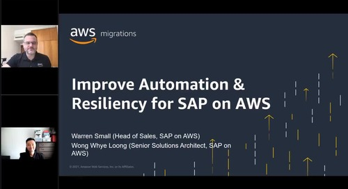 Improve automation & resiliency for SAP on AWS