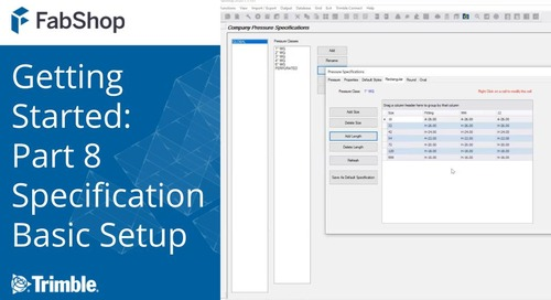 Getting Started with FabShop: Part 8 Specification Basic Setup