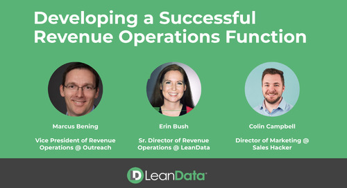 Developing a Successful Revenue Operations Function