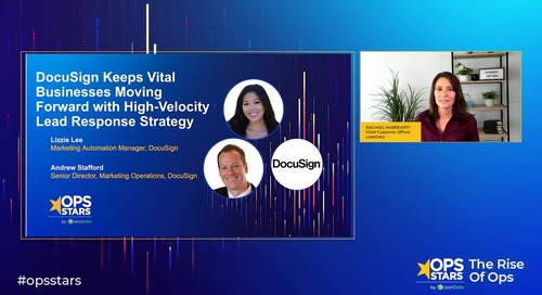 Session: DocuSign Keeps Vital Businesses Moving Forward with High-Velocity Lead Response Strategy