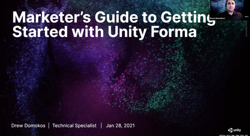 Marketer's Guide to Getting Started with Unity Forma