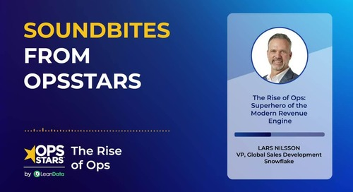 Soundbites from OpsStars | The Rise of Ops: Superhero of the Modern Revenue Engine