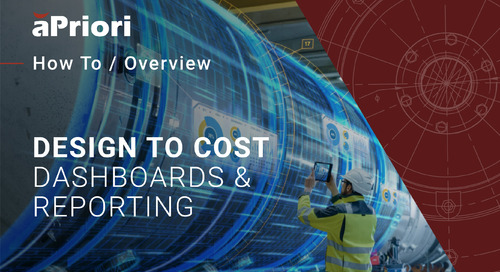 How to Use Dashboards to Track and Achieve Design-to-Cost Targets   Cost Insight Conference 2020