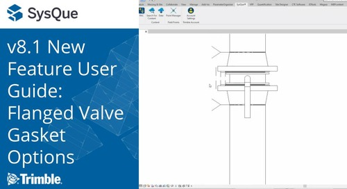 SysQue v8.1 New Feature User Guide: Flanged Valve Gasket Options