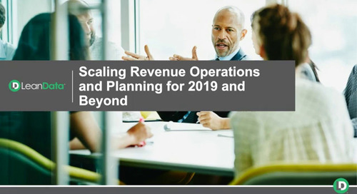 Scaling Revenue Operations and Planning for 2019 and Beyond