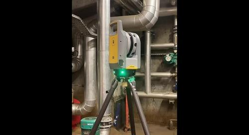 Faire un modèle 3D d'une chaufferie  avec le scanner Trimble X7