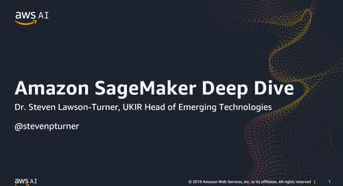 Deep Dive on Amazon SageMaker - Recording