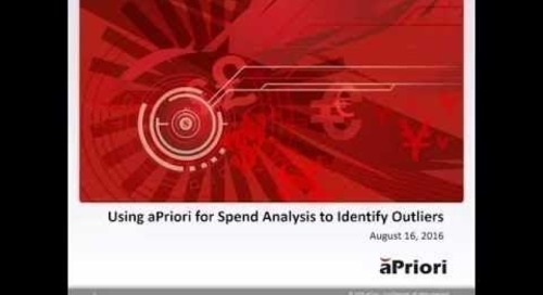 Using aPriori for Spend Analysis to Identify Outliers