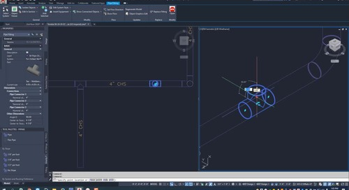 EC-CAD Pipe Training Exercise Part 13: Using Grips to Place and Edit Fittings