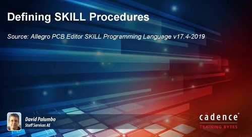 Defining SKILL Procedures