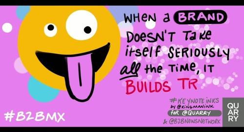 .@TimWasher with some advice for brands on building trust (via @brandersays). #B2BMX #KeyNoteInks.