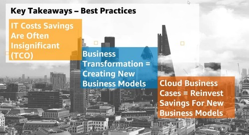Best Practices for Business Case and Due Diligence in Cloud - Recording