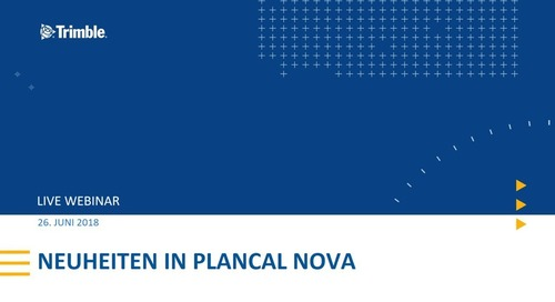 Webinar: Neuheiten in der Plancal nova Version 14.1