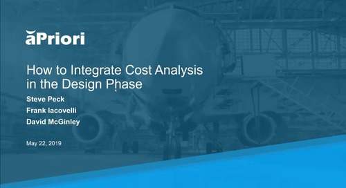 Webinar: How to Integrate Cost Analysis in the Design Phase for Aero Industry