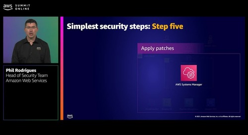 The simplest security steps for AWS