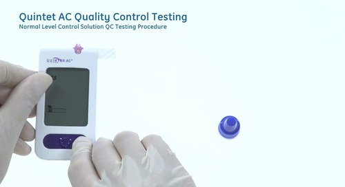 Quality control testing the McKesson Quintet AC® Blood Glucose Test