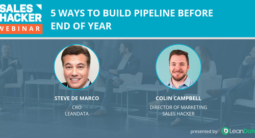 5 Ways to Build Pipeline Before End of Year
