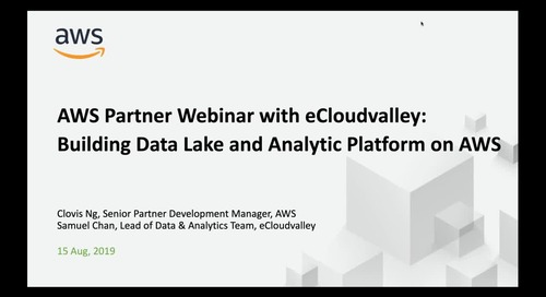 Building Data Lake and Analytic Platform on AWS with eCloudValley