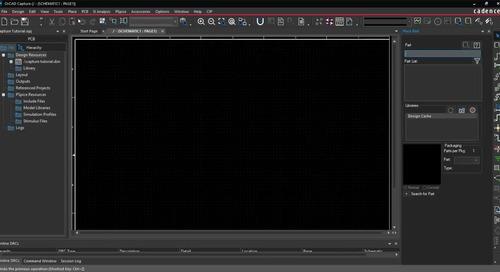 Capture Walk-through 1: Starting a Schematic