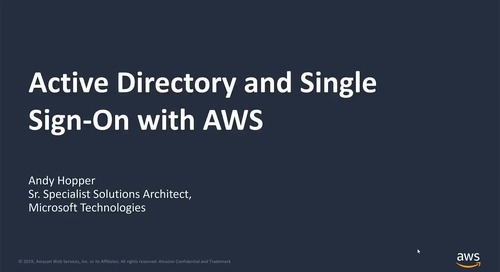 Active Directory and Single Sign-On with AWS