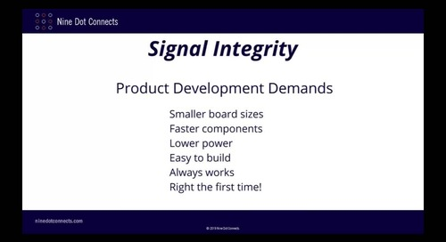Practical Aspects of Signal Integrity pt1