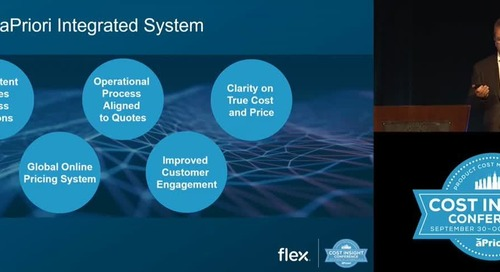 The 5 Benefits Flex Realized By Using aPriori Costing Software