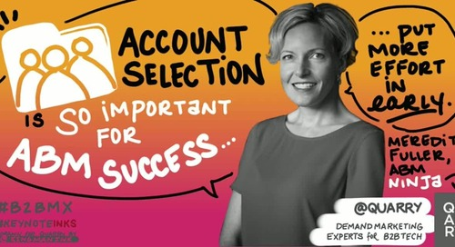 """Account selection is SO important to #ABM success. Put more effort into this activity early."""