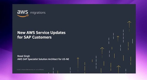 New AWS Service Updates for SAP Customers [Level 300]