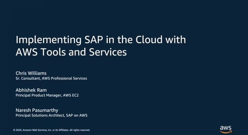 Implementing SAP in the Cloud with AWS Tools and Services