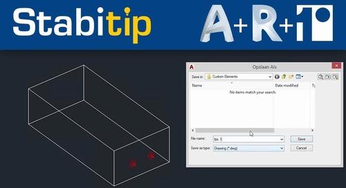 Stabicad element van AutoCAD naar Revit uitwisselen [Autocad + Revit + Stabicad]